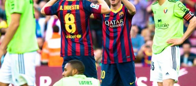 Osasuna v Barca